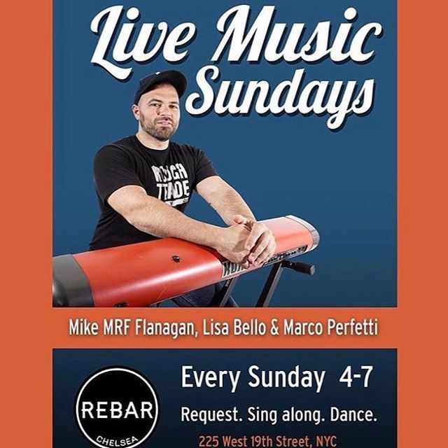 LIVE MUSIC SUNDAYS Every Sunday 4pm don't miss this amazing talented people . FUN !!! 🙌🏻💃🏻. @mikemrf @lisaannlucia #talent #talented #livesinging #amazingvoice #gay #sundayfunday #drinks #gay #gaynyc #rebarchelsea @mikeymanhattan @francodiluzio @bremen_fitness_ @tylerhasarrived @warrellsworld