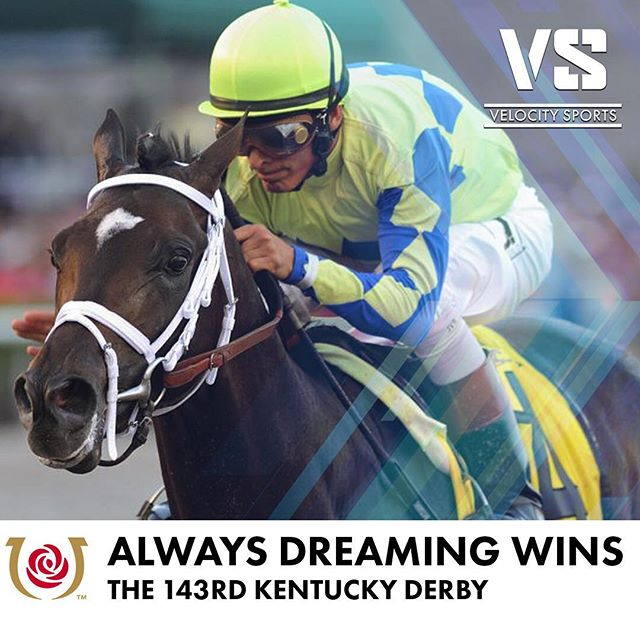 Always Dreaming wins the 143rd Kentucky Derby .. .. .. #AlwaysDreaming #Kentucky #KentuckyDerby #KyDerby #ChurchillDowns #derbyday #derby #Derby143 #horses #horse #horseracing