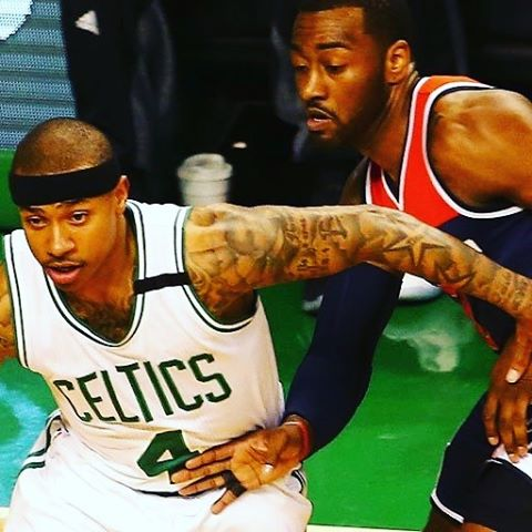 Isaiah Thomas - even with seasons Westbrook & Harden had - is best story in #NBA this season. #celtics #nbaplayoffs #wizards