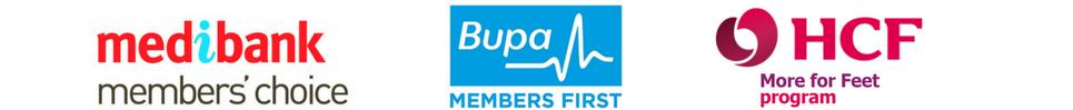Preferred provider Medibank Bupa HCF Foot Faults Podiatry