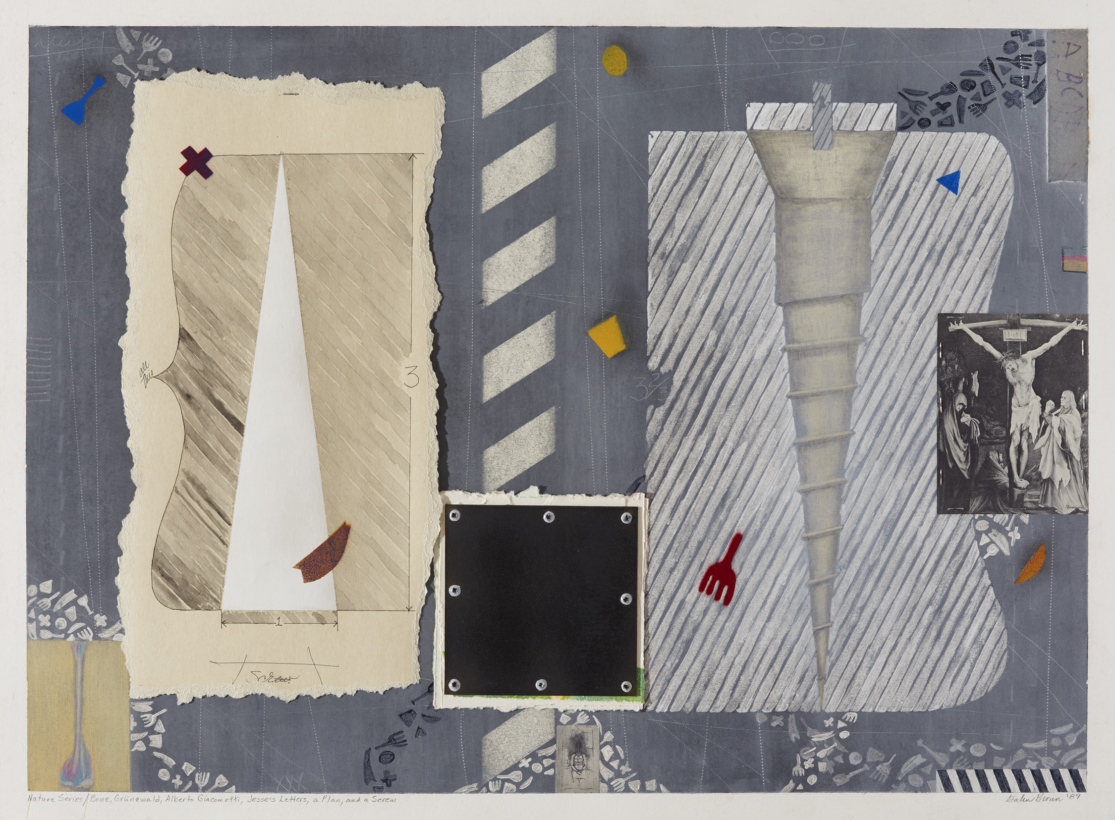 Nature Series/Bone, Grunewald, Alberto Giacometti, Jesse's Letters, a Plan and a Screw
