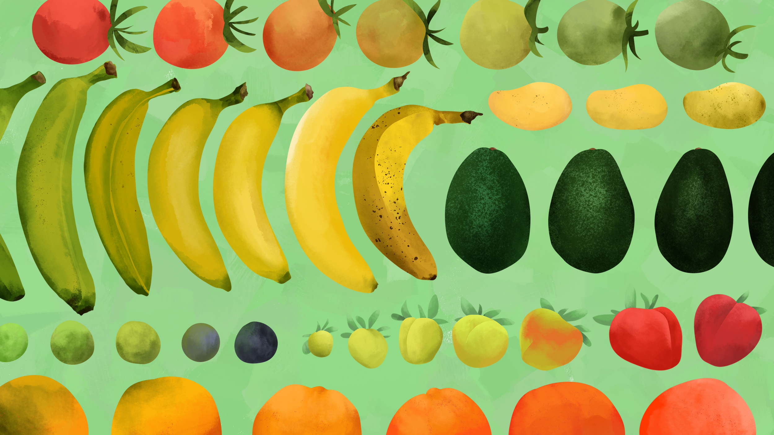 "Illustration for  The Takeout  article,  ""How to play god with fruit: a guide to ripening"""