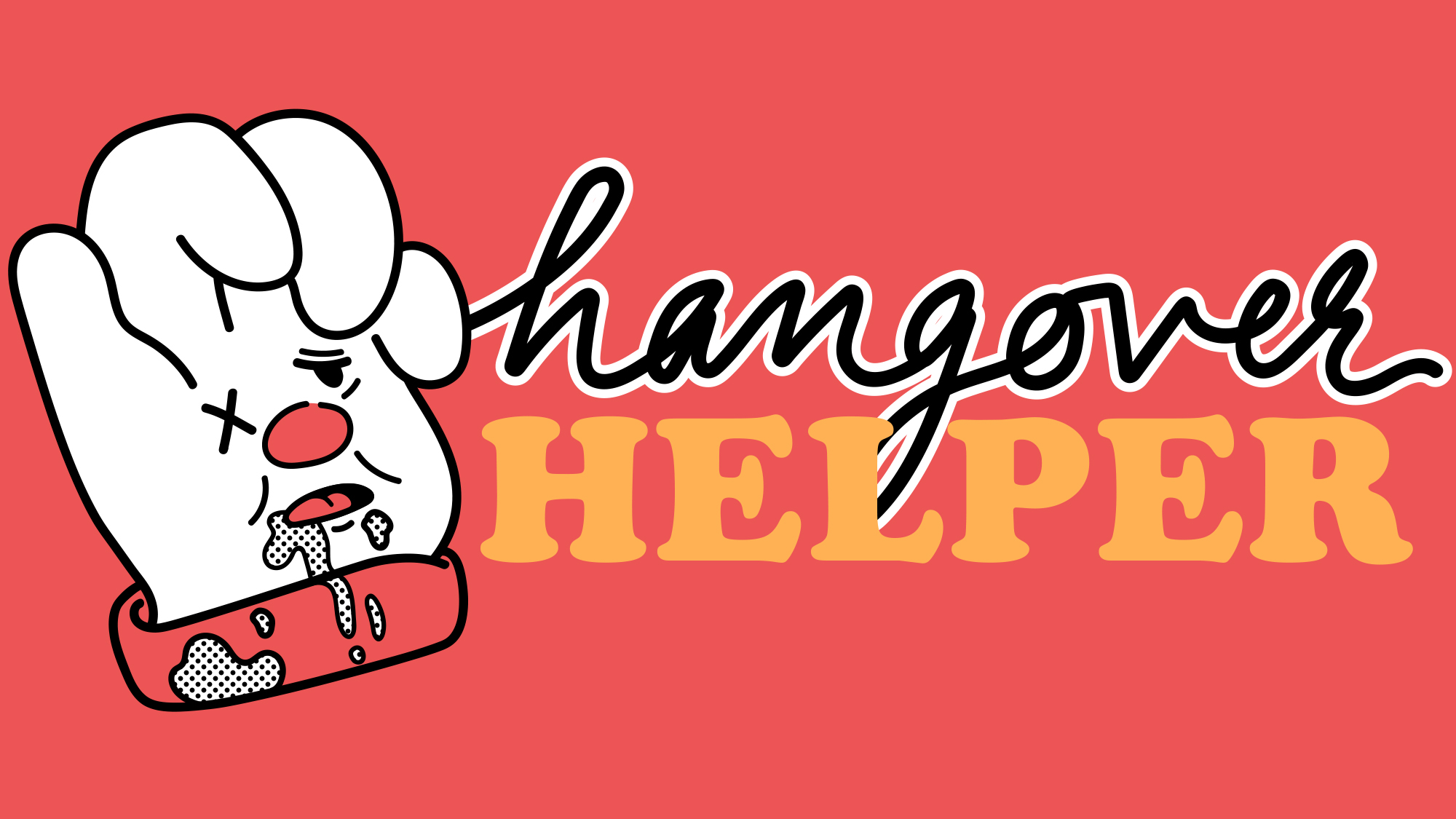 "Illustrated badges for for The Takeout's series, ""Hangover Helper"""