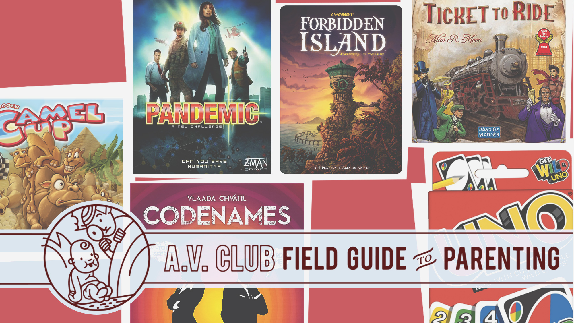 "Graphic for  The A.V. Club  article,  ""Break free from the screen: The best card and board games for your kids?"""