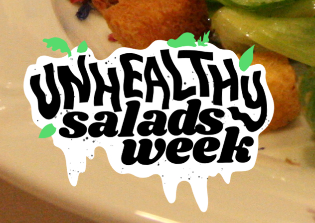 "Badge for  The Takeout  series, ""Unhealthy Salads Week"""