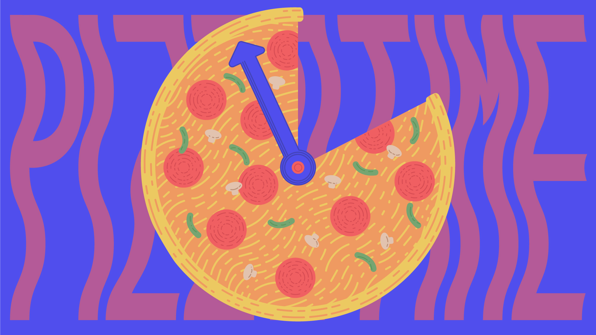 "Illustration for  The Takeout  article,  ""   How to quickly DIY a pizza with whatever's in your kitchen   """