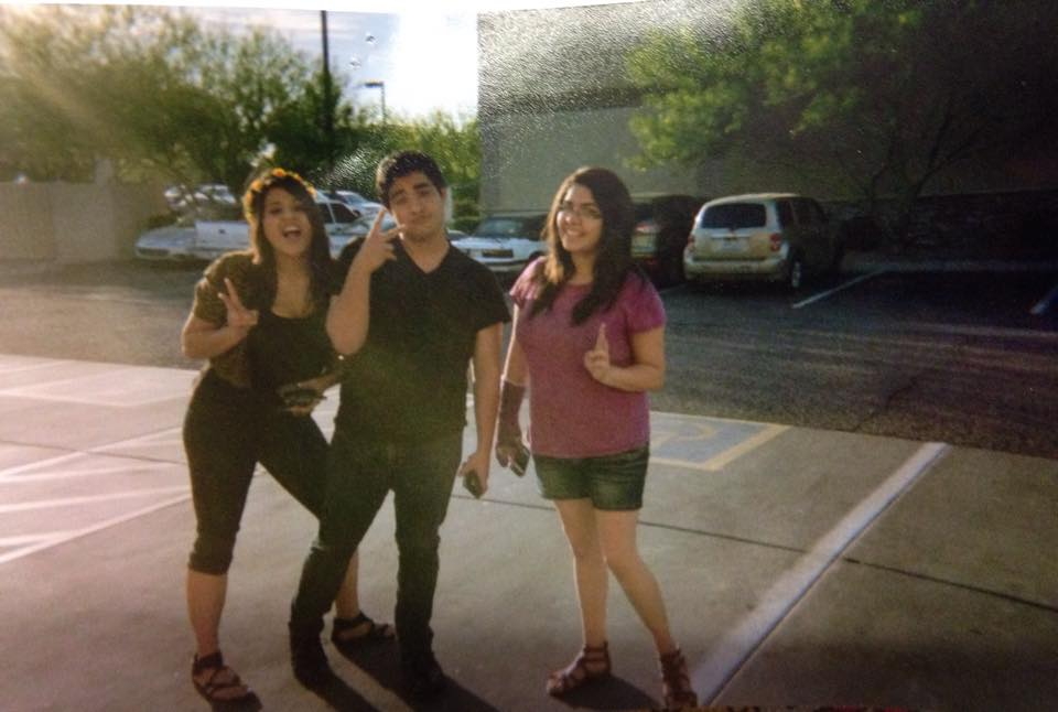 Photo of Me, Marquez, and Gabby in High School