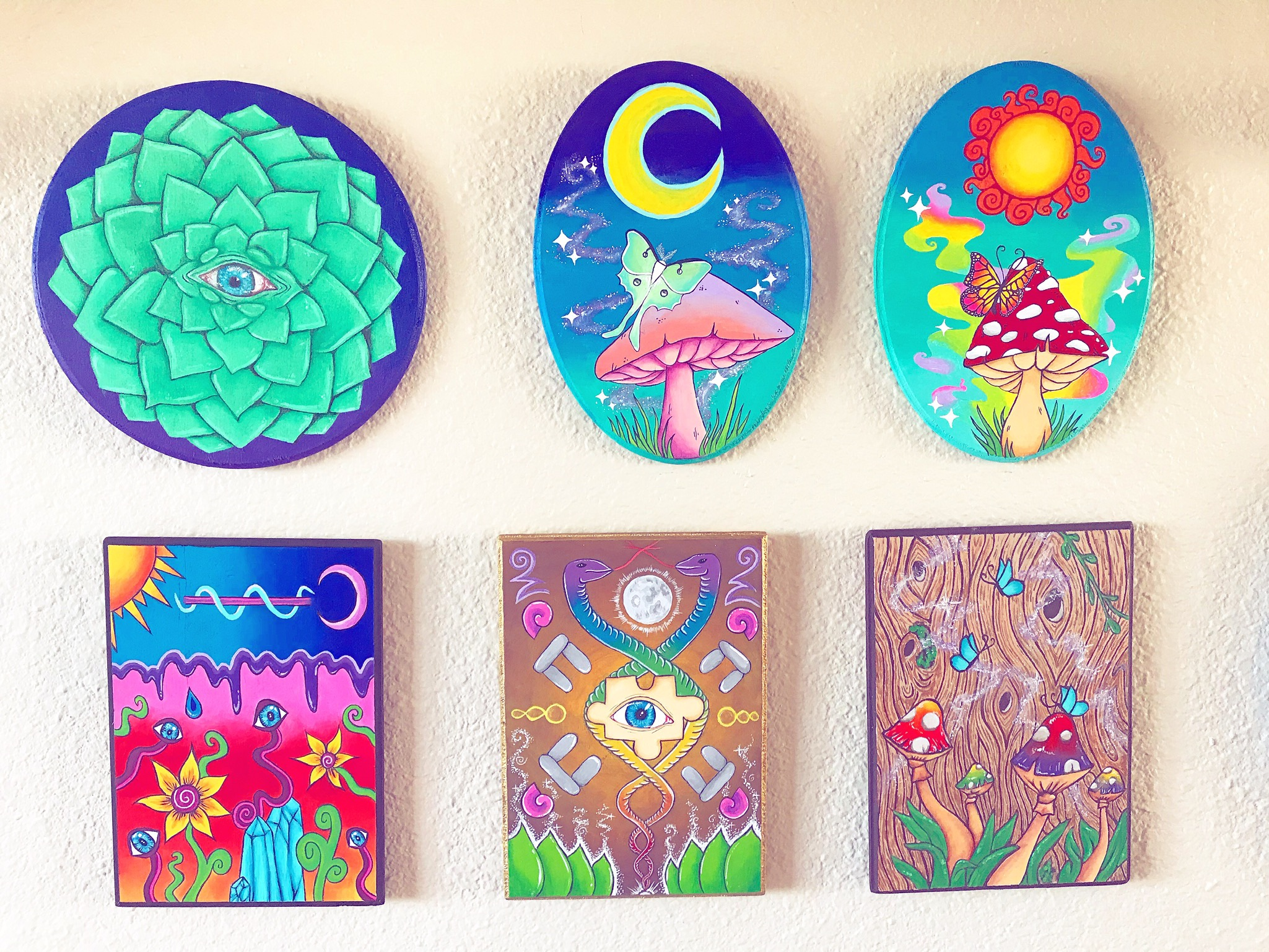 Mini wood painting collection.