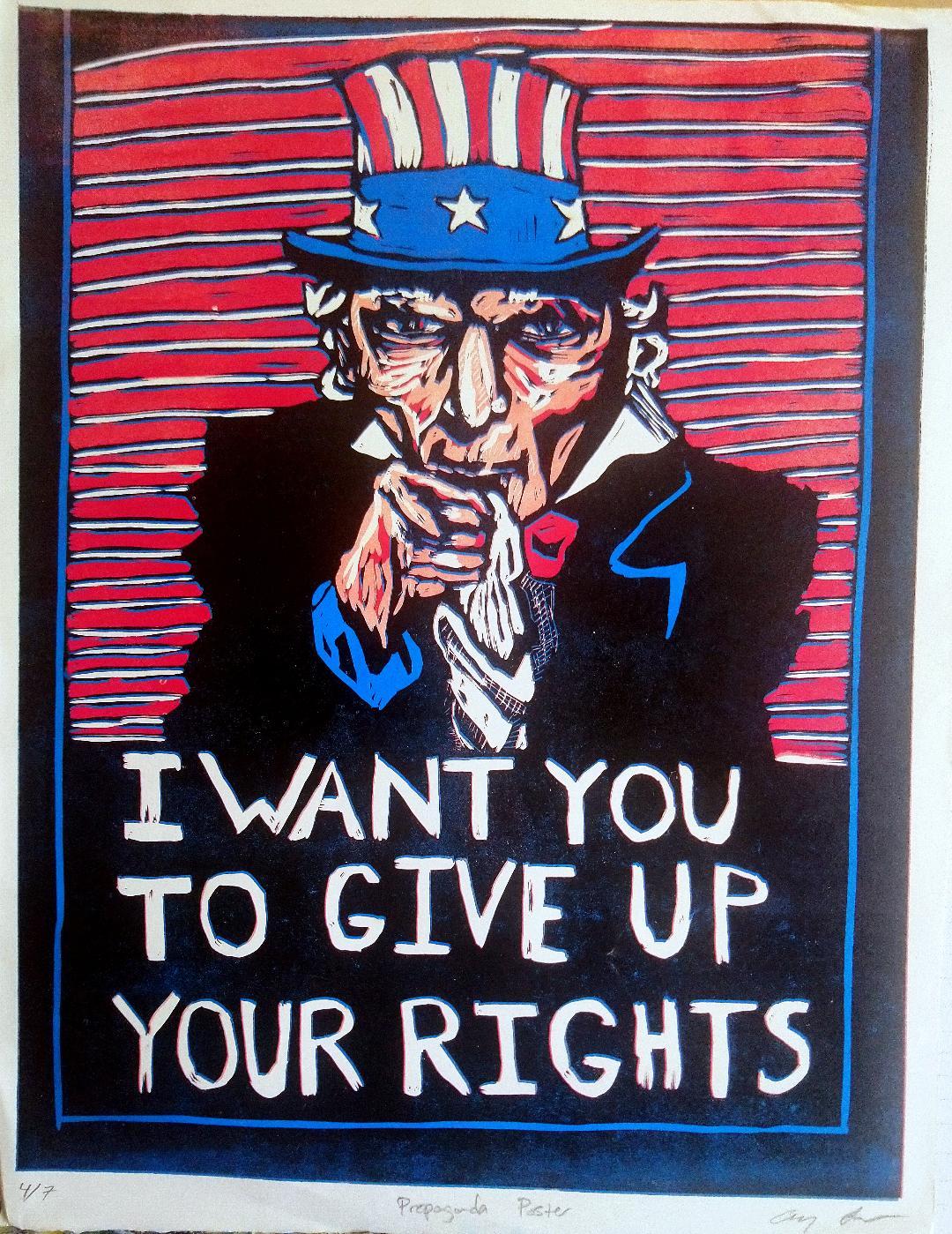 "Propaganda Poster - Andrew Layne - 18x24"" - $180"