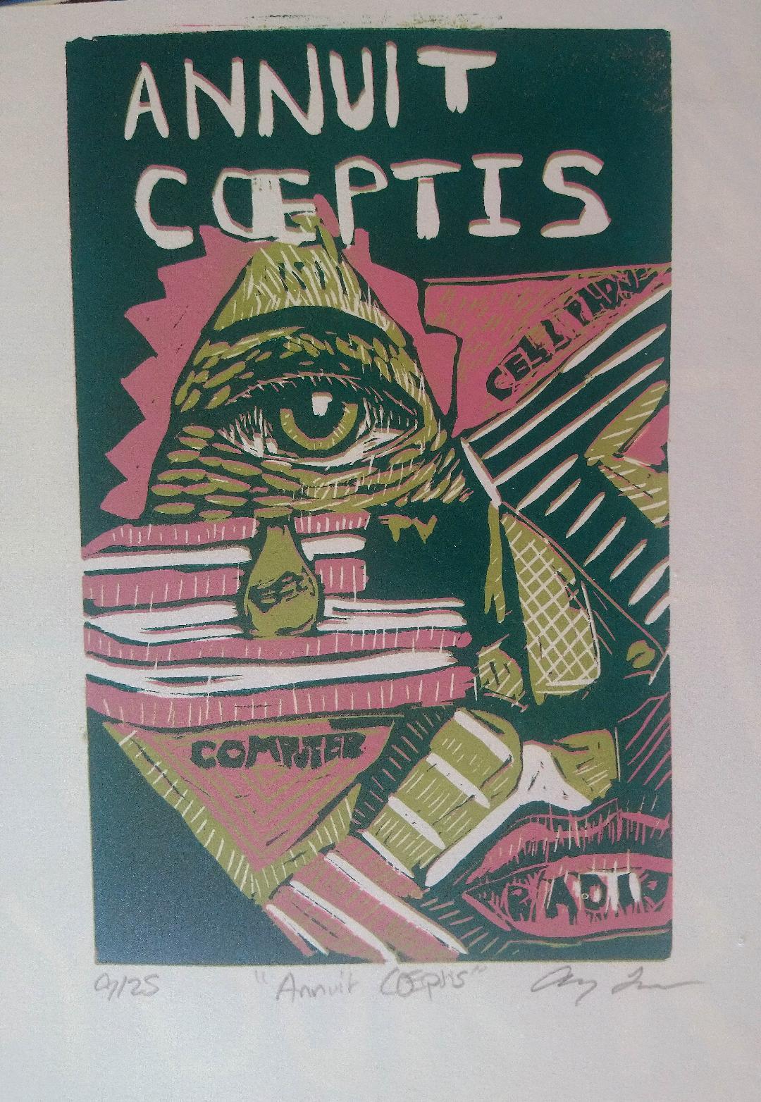 "Annuit Coeptis - Andrew Layne -8x10"" - $40"