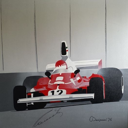 """Lauda at Monaco"" by Arthur Benjamins"