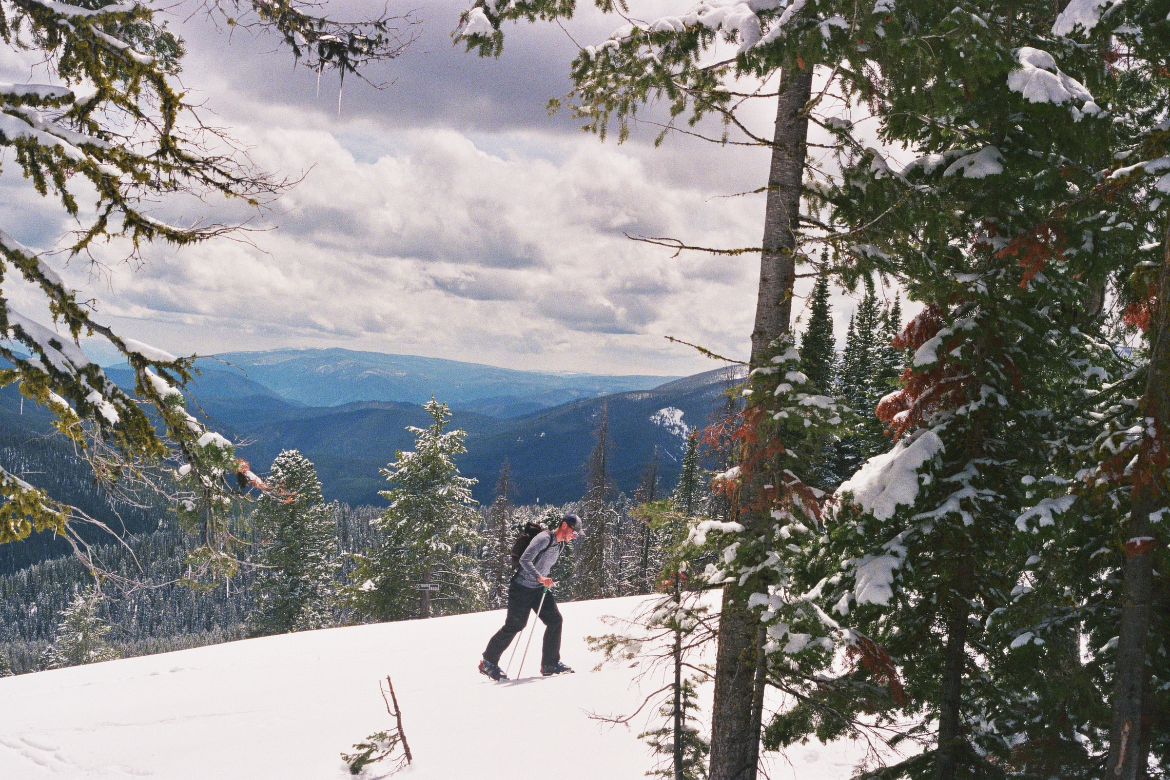 Taylor at Lost Trail Pass, Border of Idaho and Montana