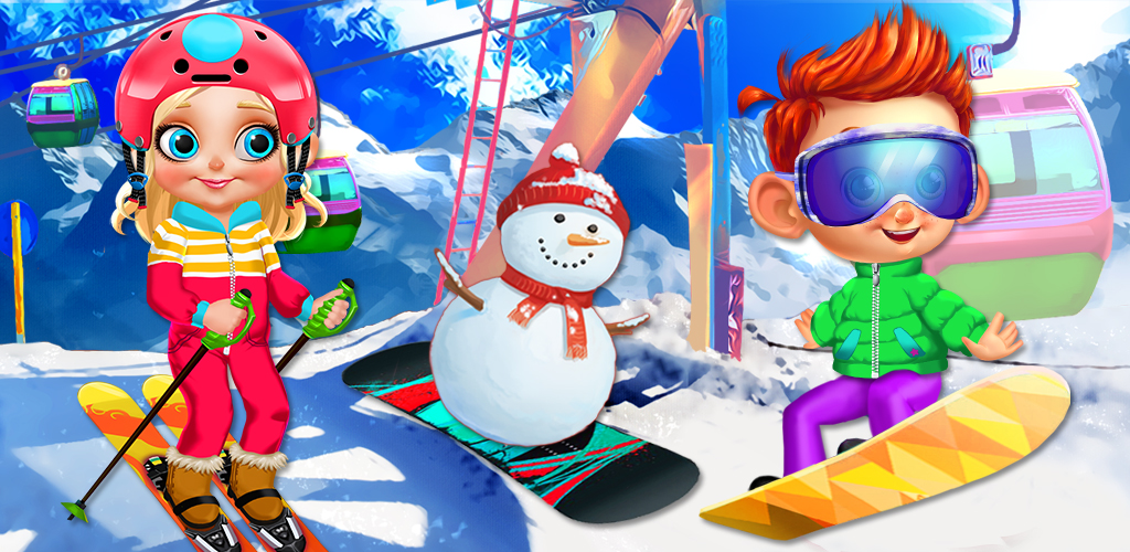 CRAZY WINTER TRIP - SKI RESORT  The mountains are full of snow, and the slopes are calling your name! The ski lifts are moving, so grab a bag! Hop on! Let's go! The ski resort is finally open for the season, and your family and friends are heading to the tallest mountain for a fun skiing trip.