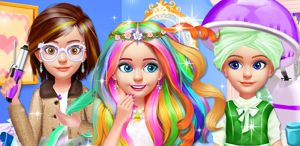KIDS HAIR SALON - CUT & COLOR!  Want to be a pretty little girl? Hairstyle is the key to your look! Start your makeover by giving yourself a cute hairstyle in the hair salon! Don't forget to visit the makeup room and dressing room also, with a fashionable makeup and a beautiful dress, you'll be prettiest little girl in the world!