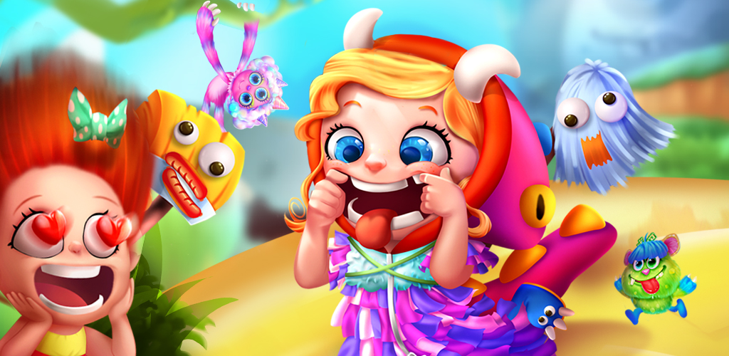 MONSTER AGAIN - FACE CHANGER  Do you want to make yourself into a cute and fluffy monster? Imagine the cute little monsters with your actual face! Be a little monster, and give yourself a spa and monster care! Dress yourself up in cute monster style!