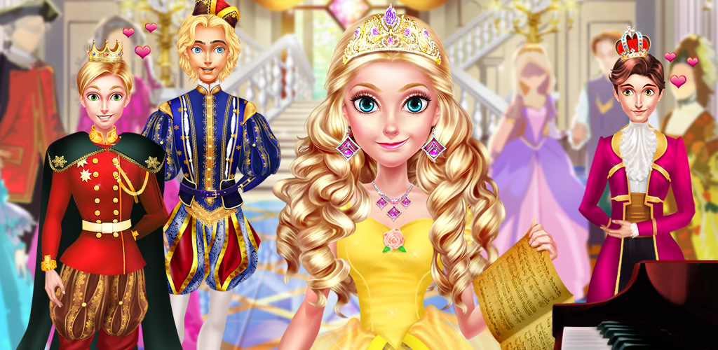 ROYAL SCHOOL - BE A PRINCESS!  In this fun princess girls game, you get to become a beautiful princess and learn what it takes to be royalty! There are different training levels to beat before you can finally meet your handsome prince. Learn how to dress up like a princess and go extra fancy for big balls!