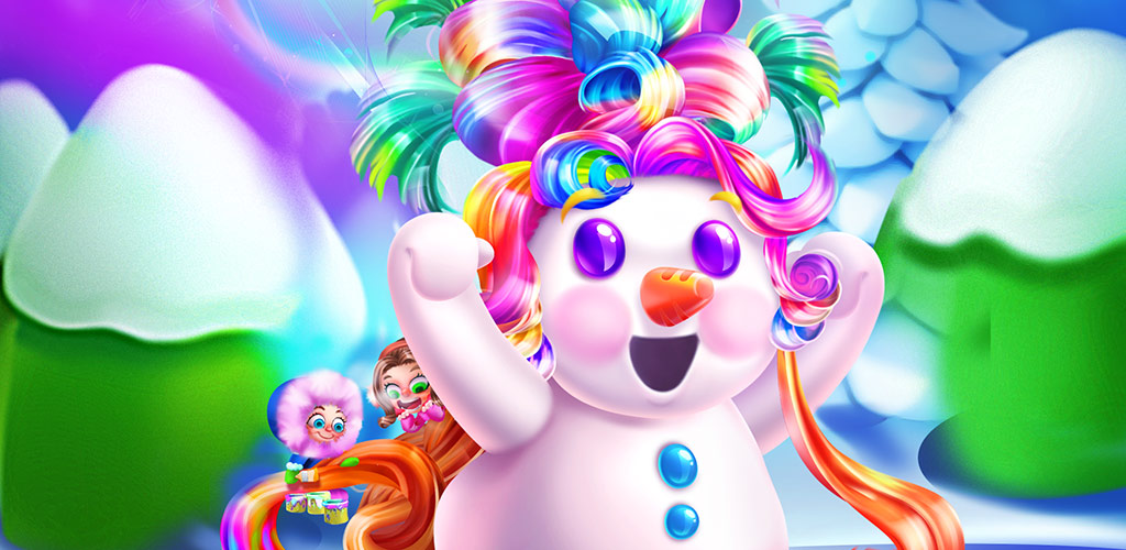 SNOWMAN HAIR STYLES SALON GAME  Winter is coming! Time to build and design a unique snowman of your own! Dress your snowman up in cool styles and give him or her a cute hairstyle for the winter!