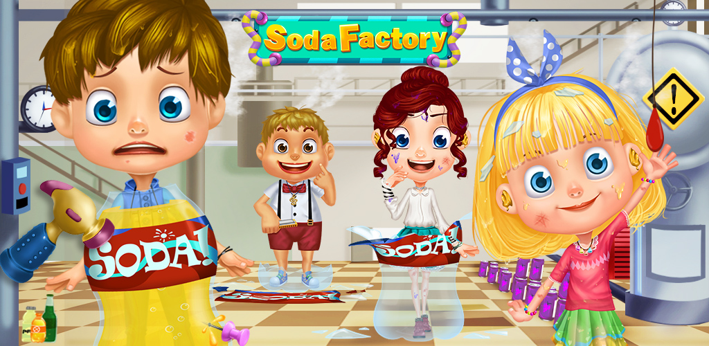 SODA KIDS - FACTORY EMERGENCY!  Soda Factory Rescue Adventure is an exciting and fun rescue and escape game kids can play that lets them save four different characters from their tour in the messy soda factory.