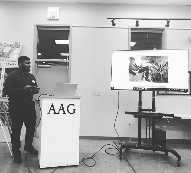 Artist talk for the  @arizona_artists_guild . . . .  #acrylicpainting #gradschool #uofa #arizonauniversity #portrait #Tucson #arizona #figurativeart #figurativepainting #tucsonart #tucsonartist #markmaking #mixedmedia #collage #figurativepainting #hamont #acrylicpaintingartist #pheonixarizona #arizonaartistguild #aag #shemergallery