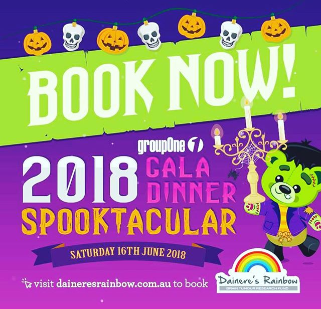 If you are in the Canberra area, why not support this beautiful charity -Daineres Rainbow as they raise funds for research by booking a table for their Gala Dinner- Saturday 16th June. Who doesn't love a Gala Dinner?? #daineresrainbow #gala #galadinner #braincancerawareness #fucancer #handinhandfbc #mikeythemartian