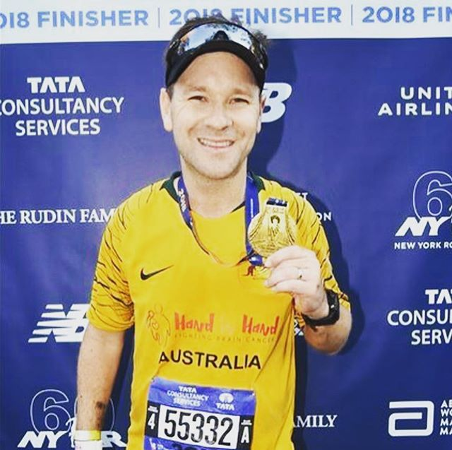 A huge congratulations @tayls8 for completing the New York marathon and raising almost $12,000 for our warriors. Its hard to find the right words to describe how proud we are and how incredibly humbled we are with your support. An absolute inspiration and super hero. Rest up our dear friend- you deserve it #handinhandfightingbraincancer #mikeythemartian #superhero #fucancer #braincancerawareness #gbm #dipgawareness #amazing