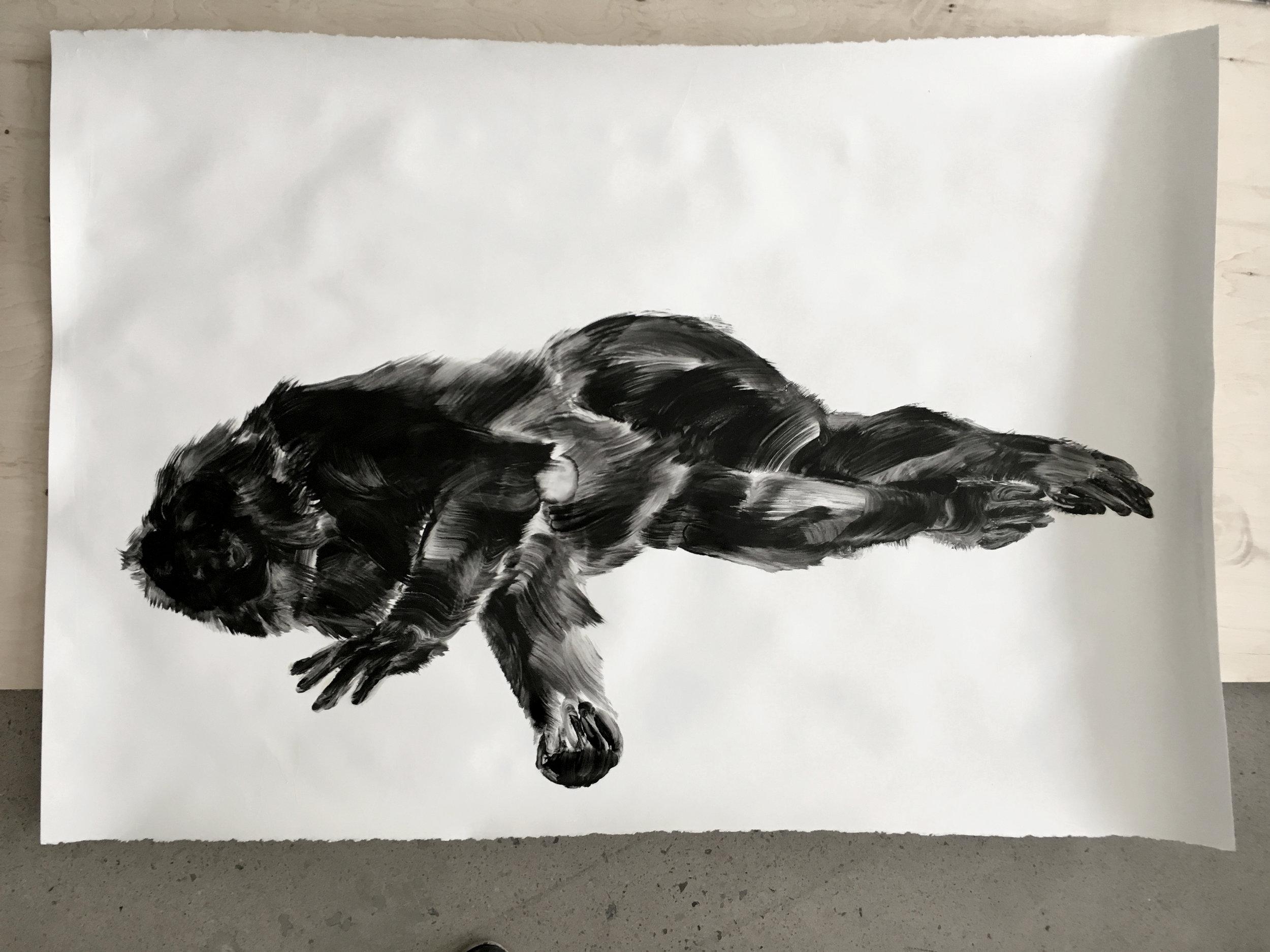 Étude à l'huile sur papier