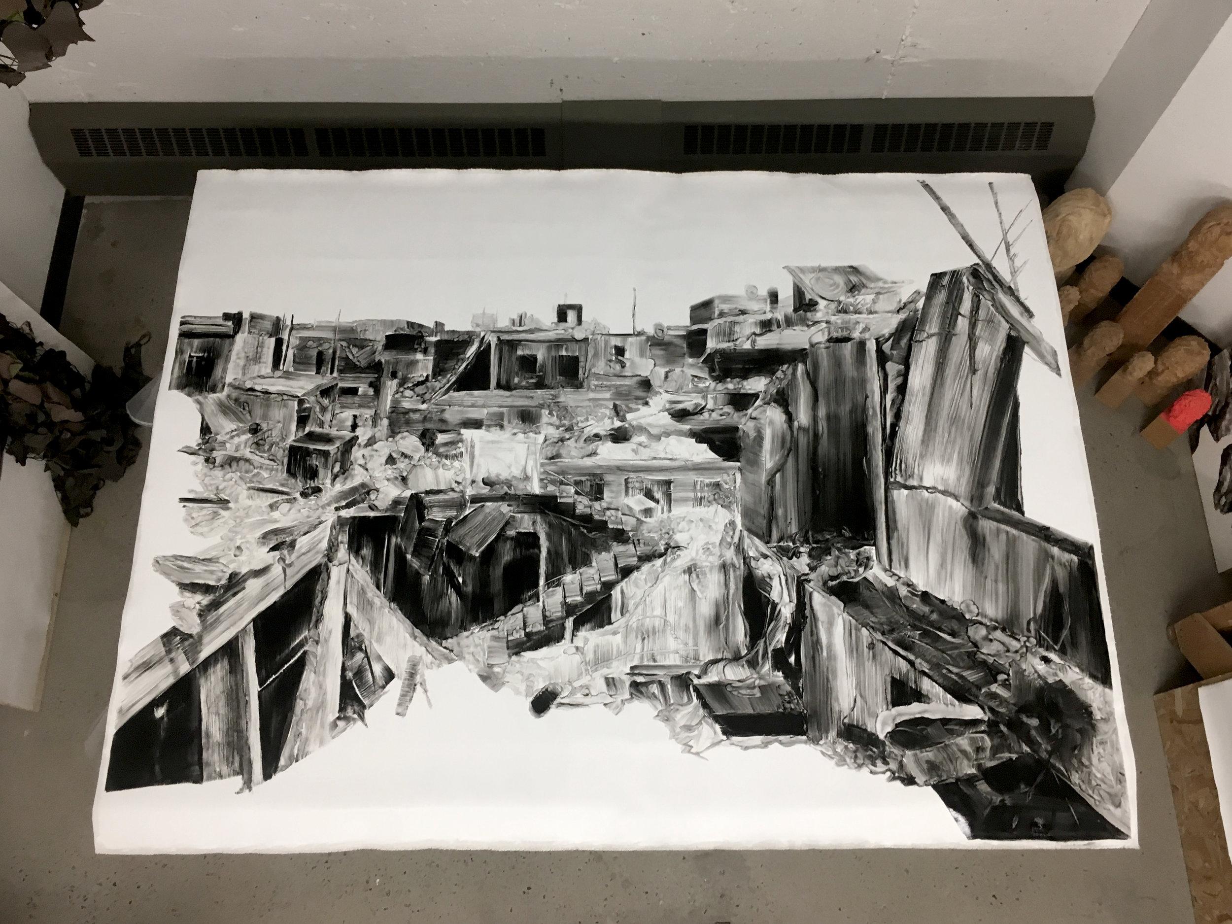 Série, A pile of ruins  Huile sur toile