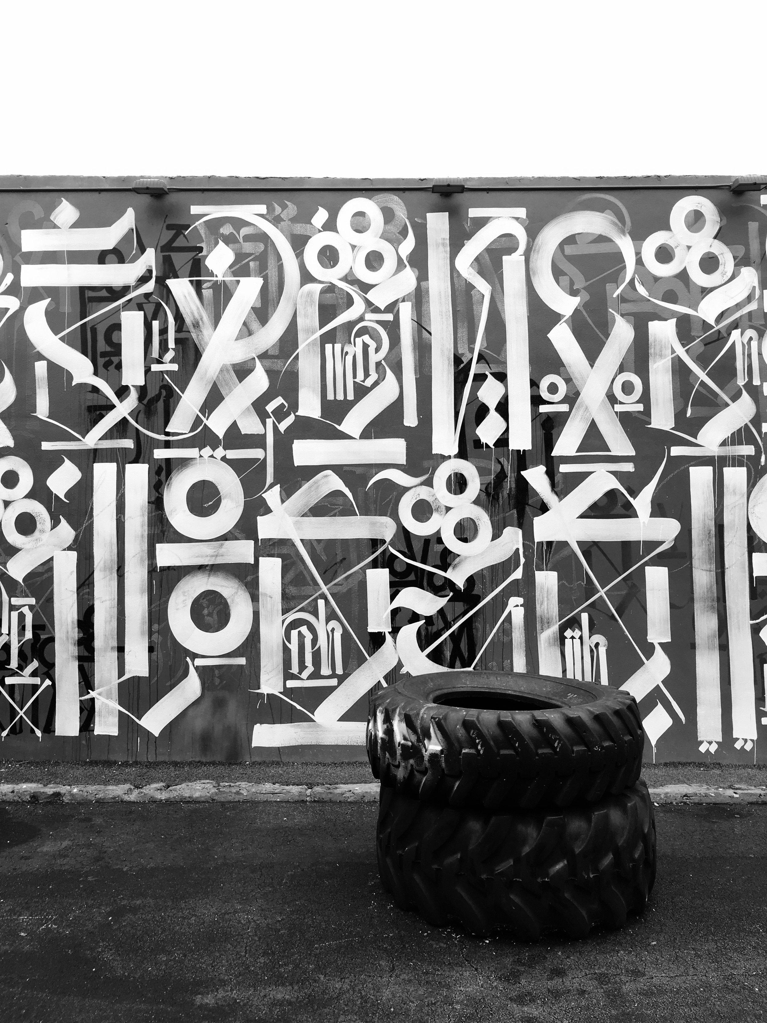 Graffiti, Retna  Wynwood District, Miami