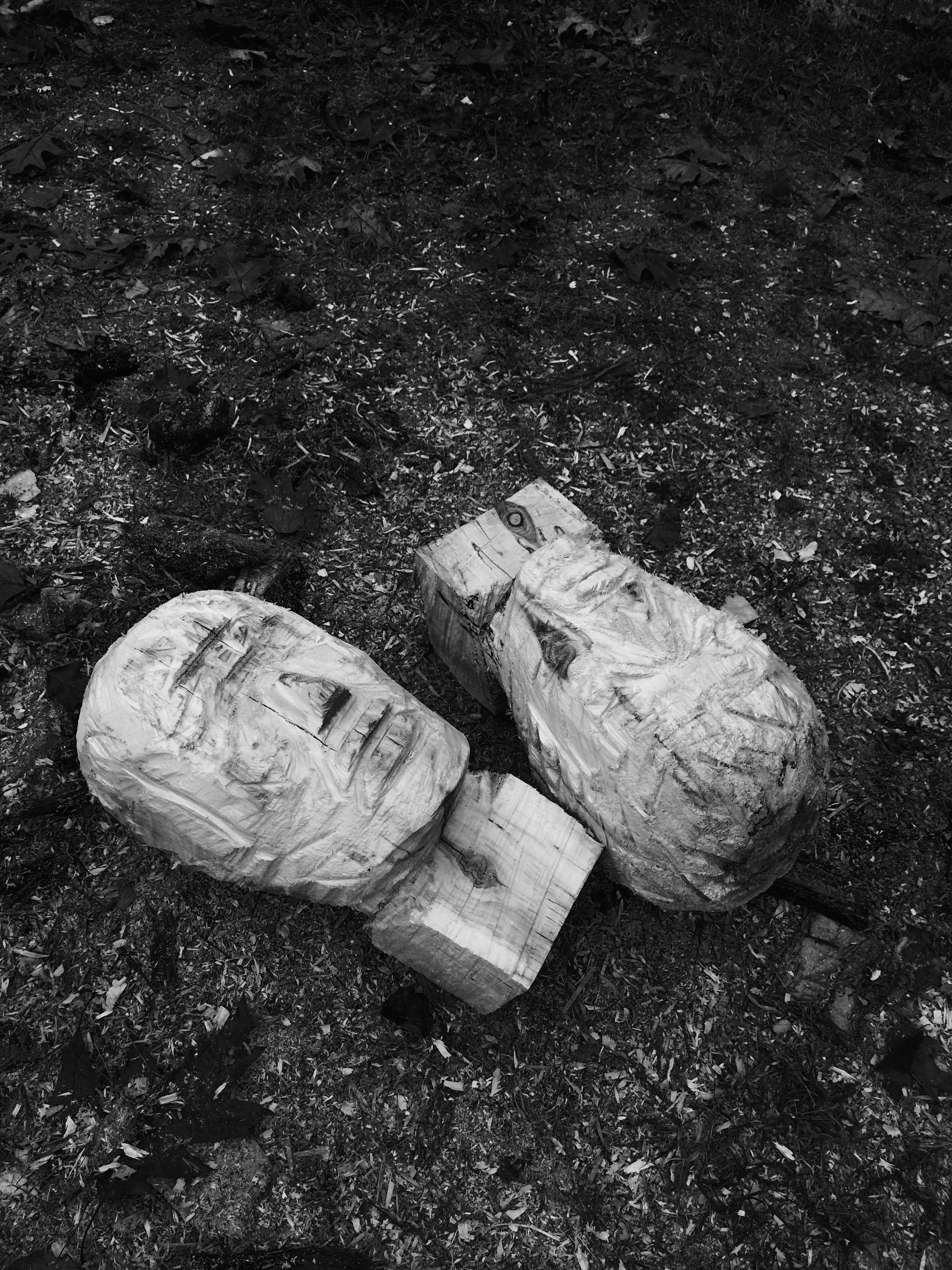 Sculpture sur bois, à la chainsaw  St-André Avellin, Outaouais