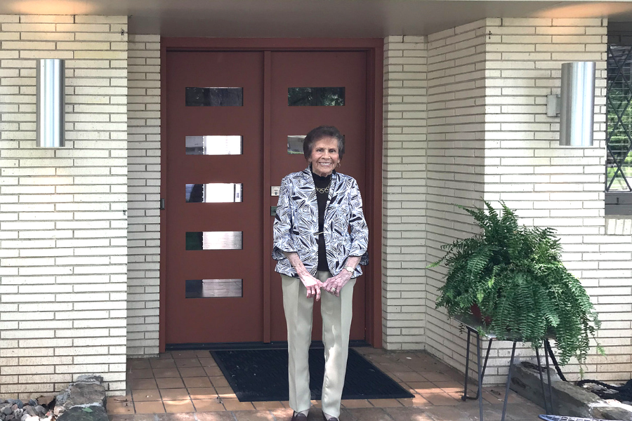 The home's original owner, Lorene, paid the current owners a visit on Mother's Day in 2018.