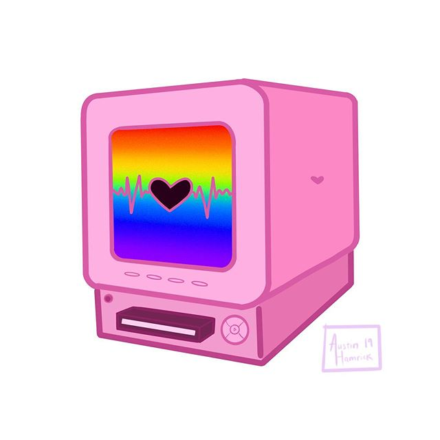 rainbow doodle 🏳️‍🌈💕 #pride #gay #equality #instagay #lgbt #lgbtpride #loveislove #gayboy #gaypride #pride2019 #rainbow #art #sketch #digitalart #artwork #doodle #pink #drawing #illustration #love