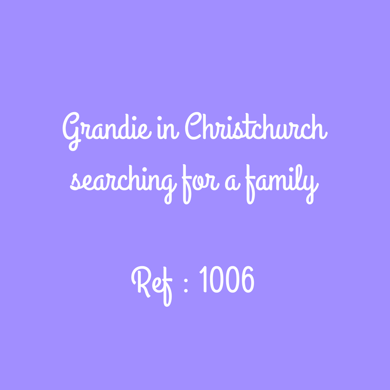 Grandie in Christchurch searching for a familyRef - 1006.png