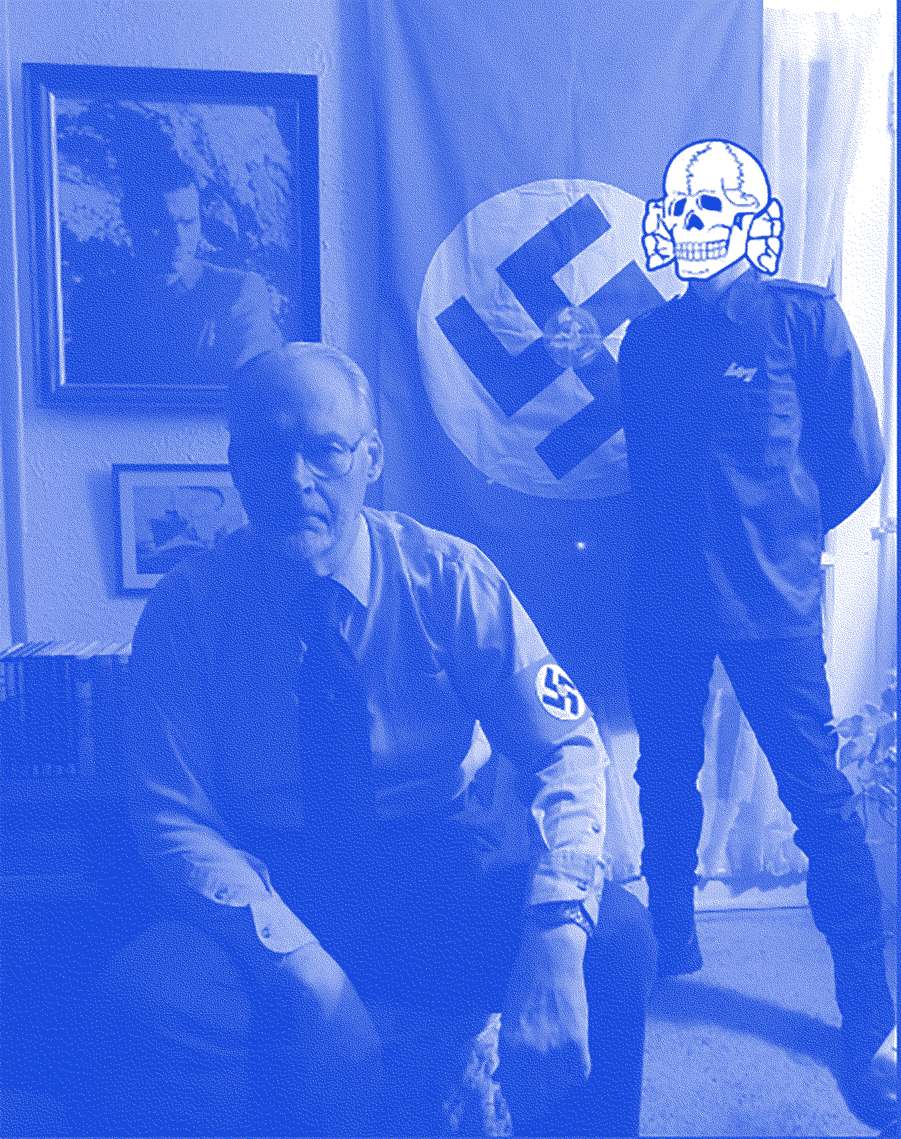 James Mason with an unidentified member of  Atomwaffen.