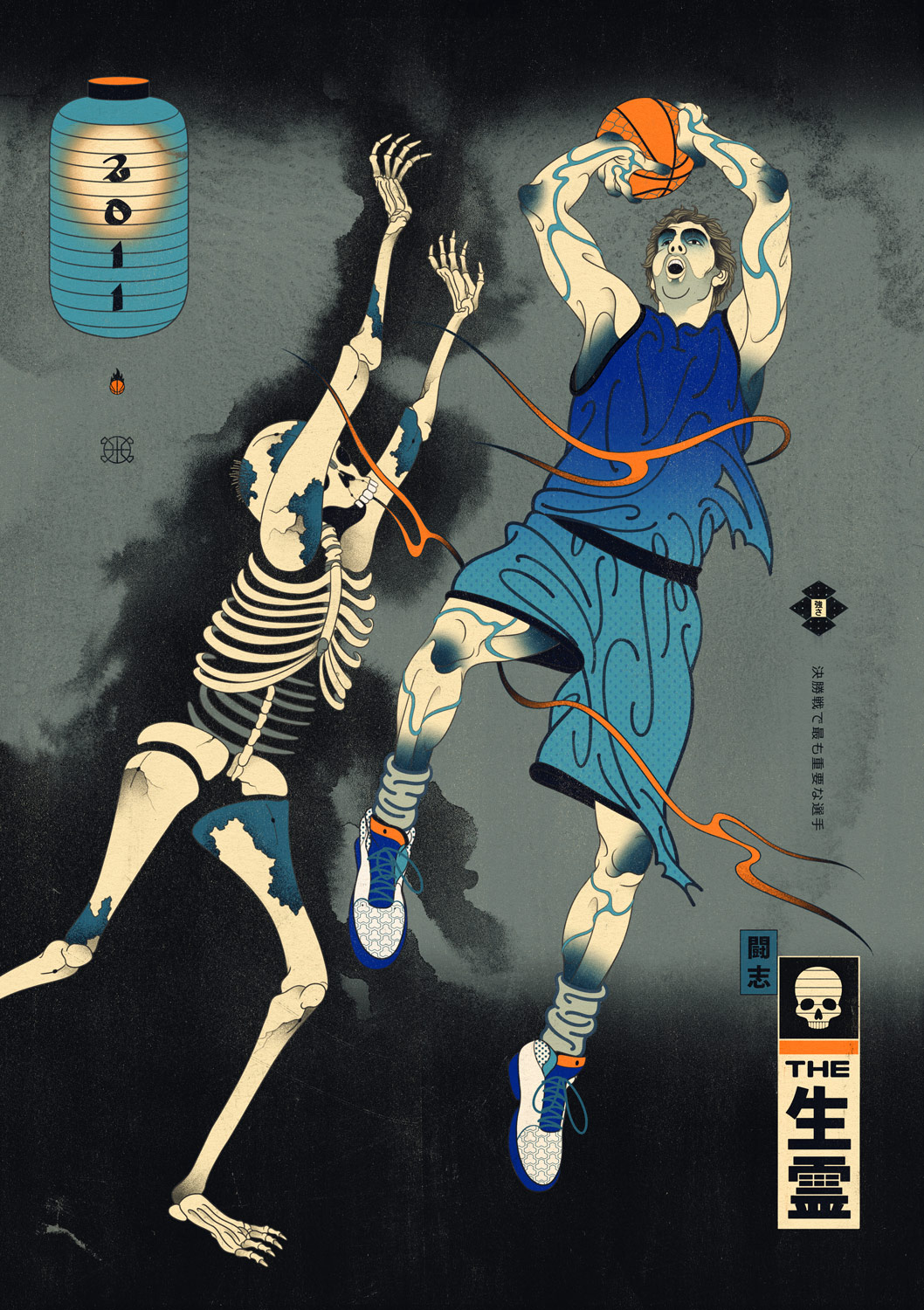 Edo Ball NBA Basketball Art - Dirk Nowitzki, The Dirkiryo.