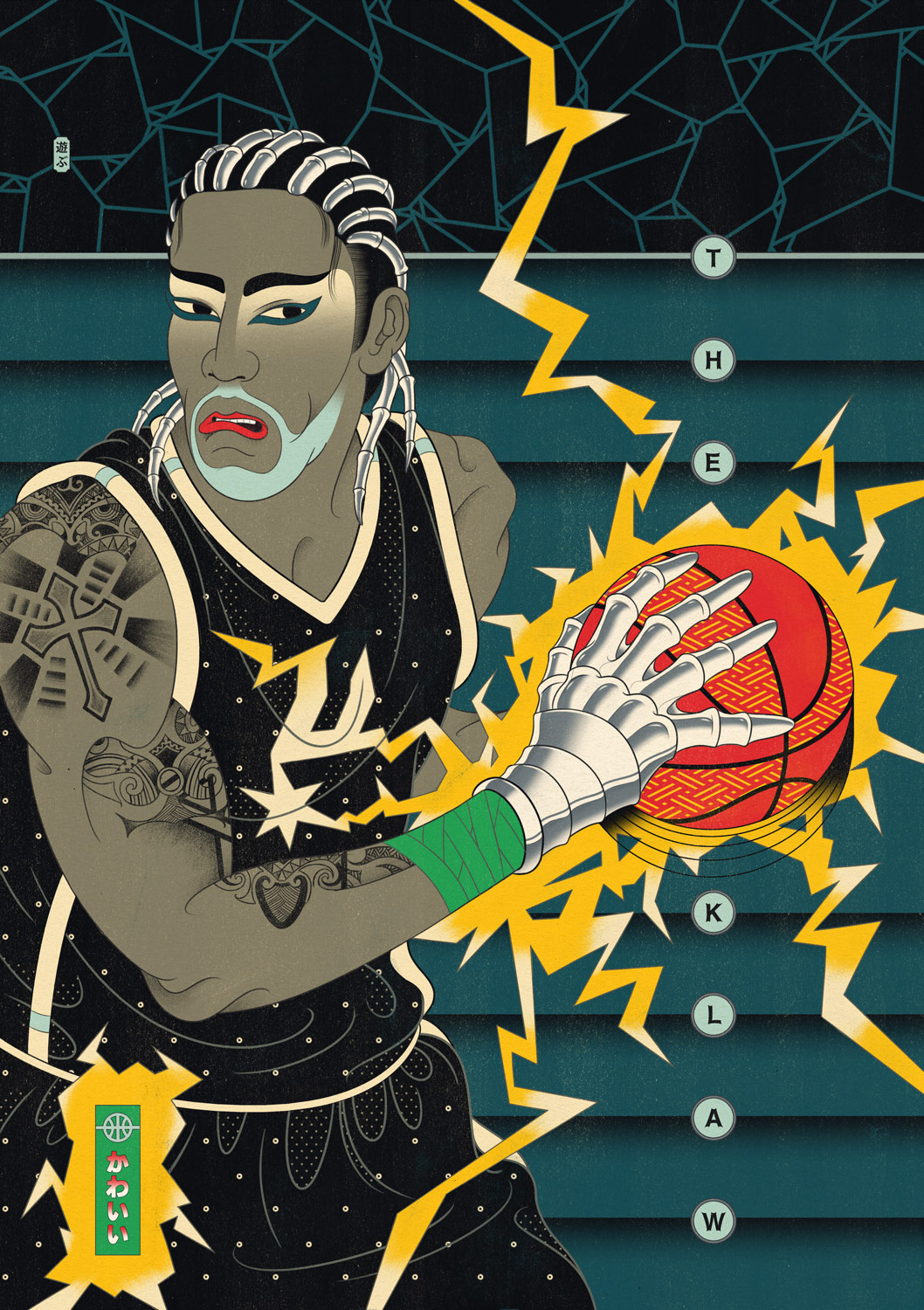 Edo Ball NBA Basketball Art - Kawhi Leonard The Klaw.