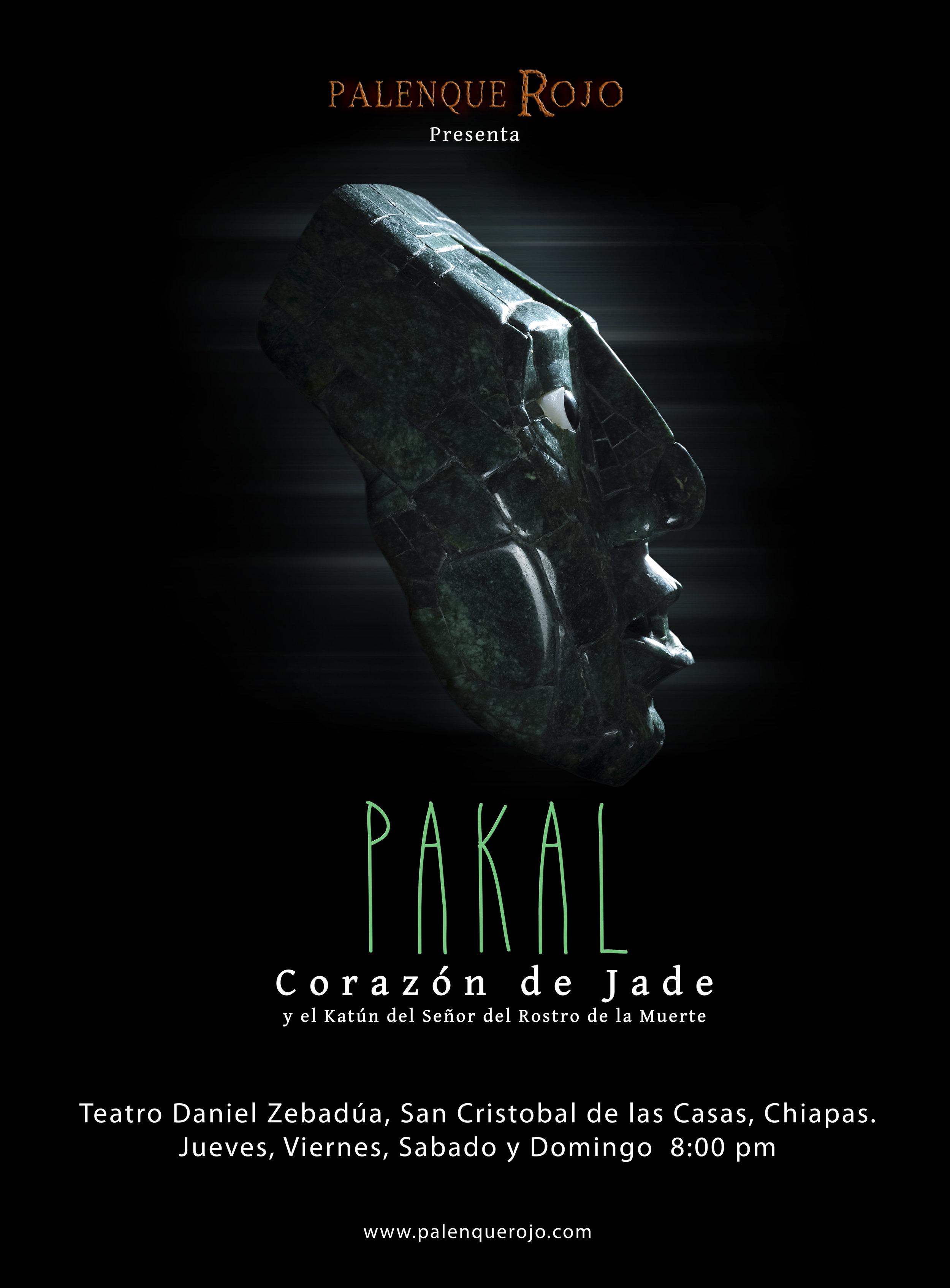Corazon de Jade. Premiered in December of 2013 in El Teatro Zabadua, San Cristobal de Las Casas, Chiapas.  Direction, production and script by Hiram Marina.   https://www.youtube.com/watch?v=UDRRLOTPxOo