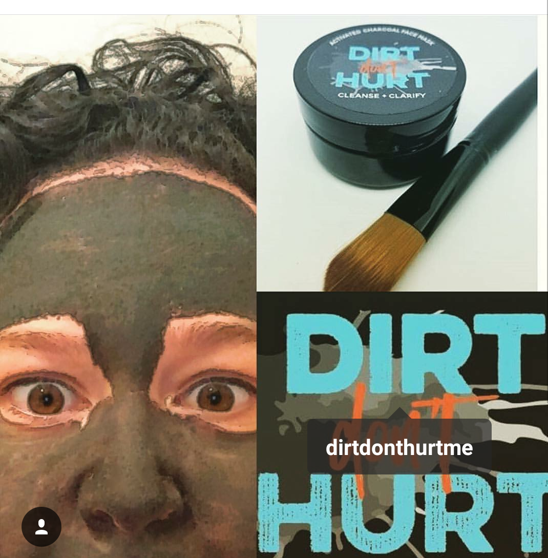 Charcoal Face Mask - So I FINALLY had the chance to try the #DirtDontHurt Charcoal Face Mask!! Here are a few points I wanted to highlight:•A little goes a long way•No mess-formula•The brush provided is great for coverage •Definitely get your money's worth! 💁🏽 When all is said and done. I'd definitely buy this again. But with the amount that you need to mix for each use, you won't have to buy more for a while!! Once I washed my face, it felt so clean and refreshed! I did it at night so I expected to wake up the next morning with an oily face (like all of the other products I've used leave me) but my face was smooth and not oily...but not dry. If that makes sense lol Just go buy one and try it!! It's fun to paint your face and feel like a tribal warrior!! Lol Check them out at @dirtdonthurtme #CharcoalFaceMask #DirtDontHurtMe #SmoothSkinInstagram// Sept 15th, 2017// @JessieBooski