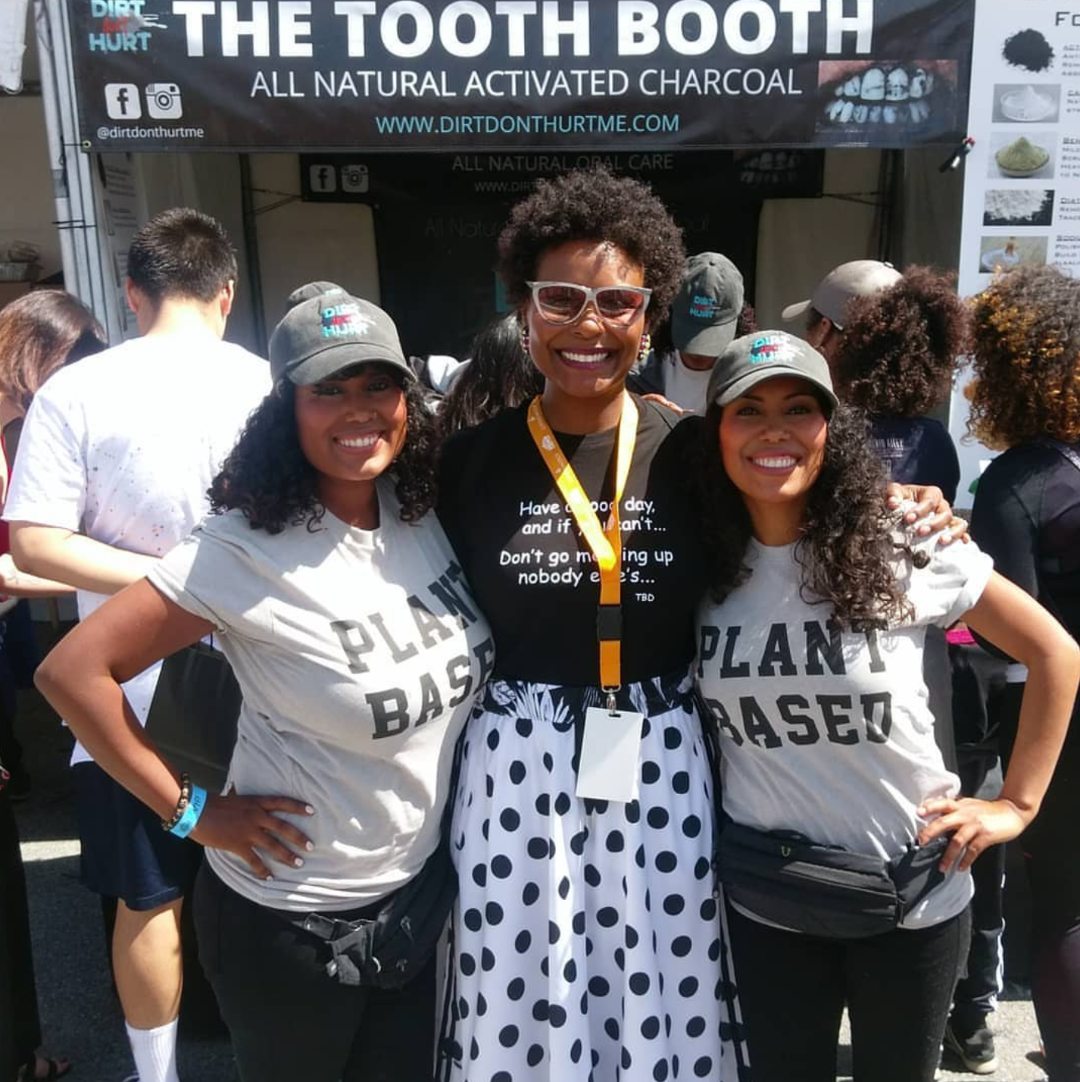 The lovely Tabitha Brown at Vegan Street Fair in North Hollywood