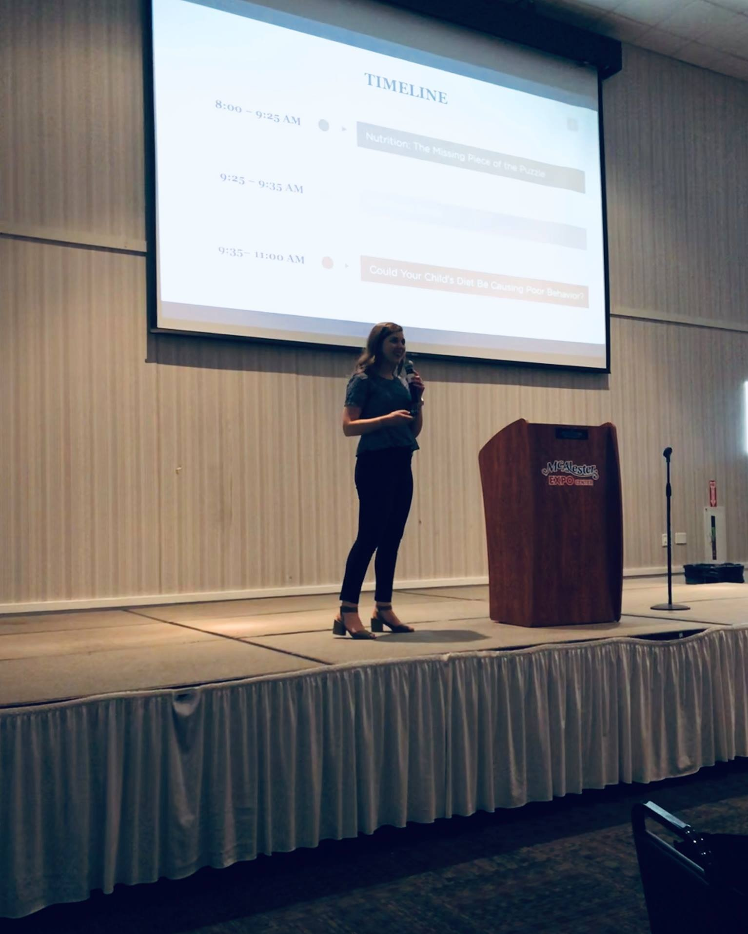 Speaking at the Early Childhood Conference in McAlester, OK in 2019