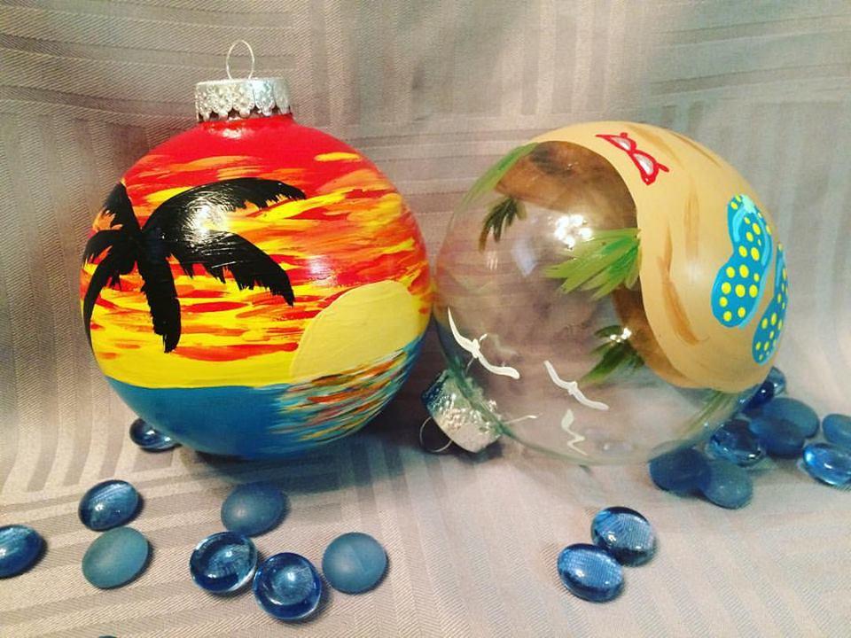 Ornament Painting - Each guest paints a glass ornament