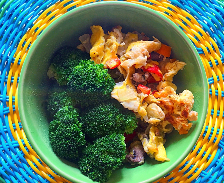 Image: Dominica Reid   Steamed veggies and scrambled eggs was an easy way for me to get my vegetable and protein intake.