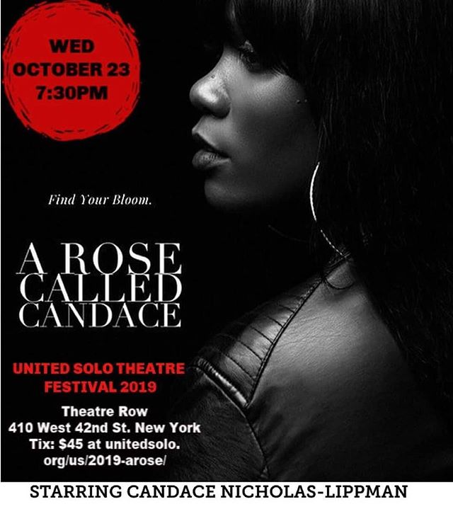 "So proud of ARULA member Candace Nicholas-Lippman on being selected to perform in the 10th Annual United Solo Theatre Festival in New York, October 23rd 2019! . ""Artists Rise Up Los Angeles has encouraged me to share my voice by giving my art a place to breathe and just be. Art is my course of action.. to reflect what's happening in the world and my community in hopes of inciting inspiration, healing & social change."" Candace Nicholas-Lippman A Rose Called Candace  Support: https://www.gofundme.com/SEND-CANDACE-TO-NEW-YORK"