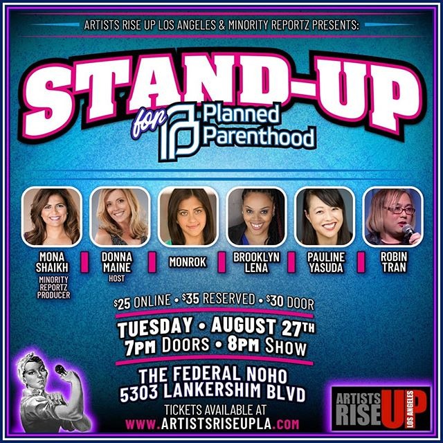 IN 6 DAYS, 6 WOMEN TAKE THE STAGE FOR PLANNED PARENTHOOD!  GET YOUR TICKETS TODAY & join us for a hilarious night of Stand-up comedy straight from the Laugh Factory, L.A Improv and The Comedy Store. L.A'S FINEST FOR A CAUSE! 🎟LINK IN BIO🎟 ALL PROCEEDS TO BENEFIT  Planned Parenthood Los Angeles  @pplapeeradvocates . #StandWithPP #standupcomedy #losangeles #losangelescomedy #benefit #diversity #comedy #standup  #ThisIsHealthcare #minorityreportz #plannedparenthood #artistsriseupla