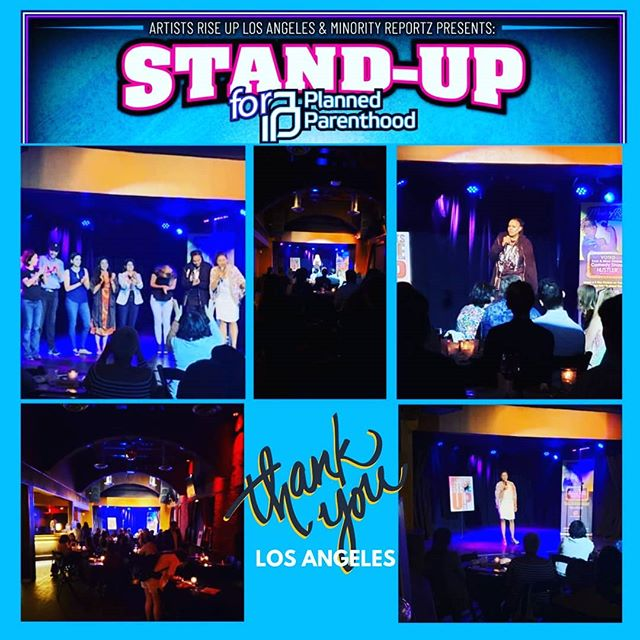 What a fantastic night of comedy! We want to thank everyone for their support of Planned Parenthood Los Angeles @pplapeeradvocates THANK YOU @minorityreportz producer, @monascomedy for joining forces with us! What an incredible lineup!! @itsbrooklynjones , @robintran04 @paulineyasuda  @donna.maine & @monrok_ we thank you for being a part of our journey! #nonprofit #artistsriseupla #minorityreportz #plannedparenthoodlosangeles #standwithpp #SaveTitleX