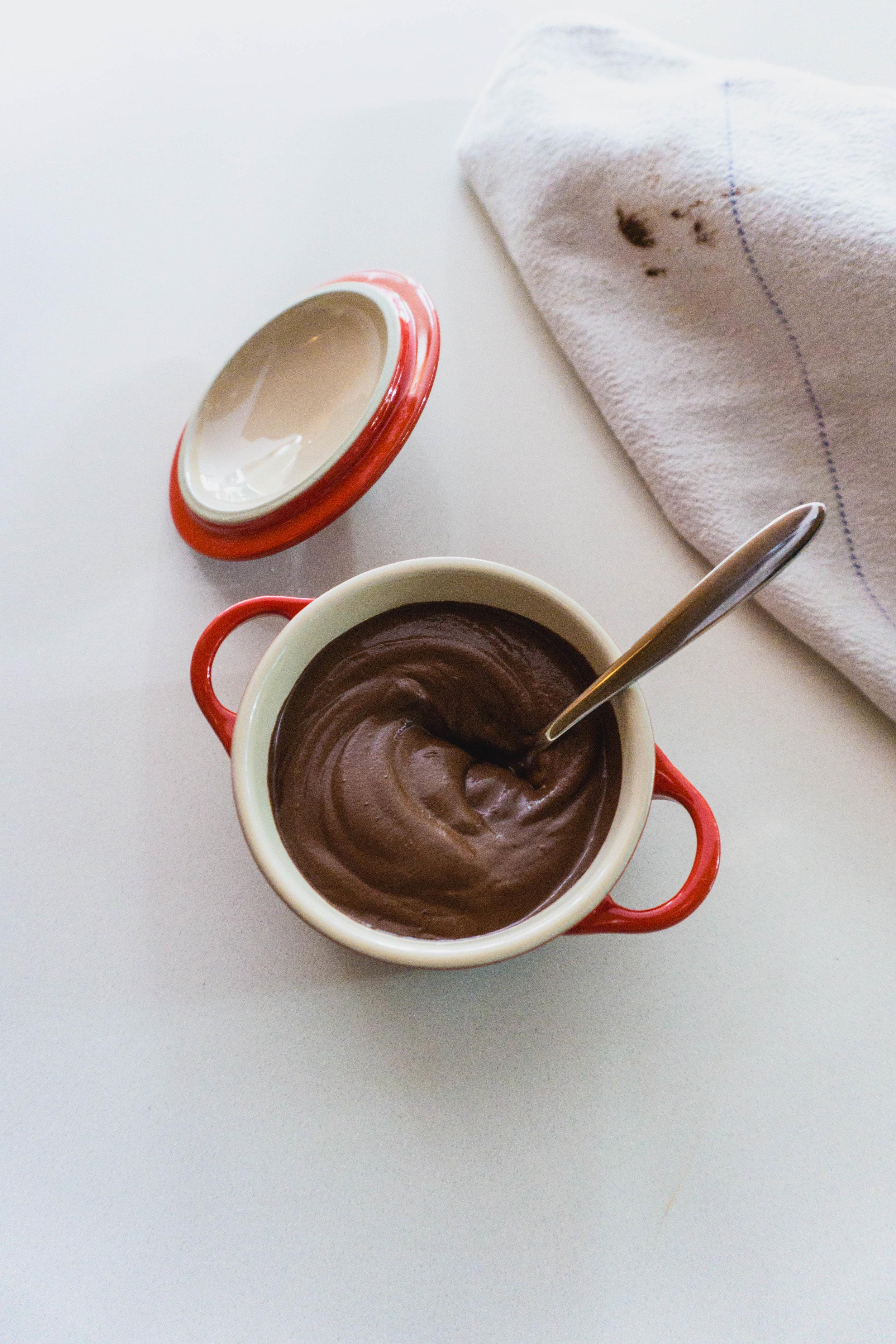 Chocolate swirls and stains