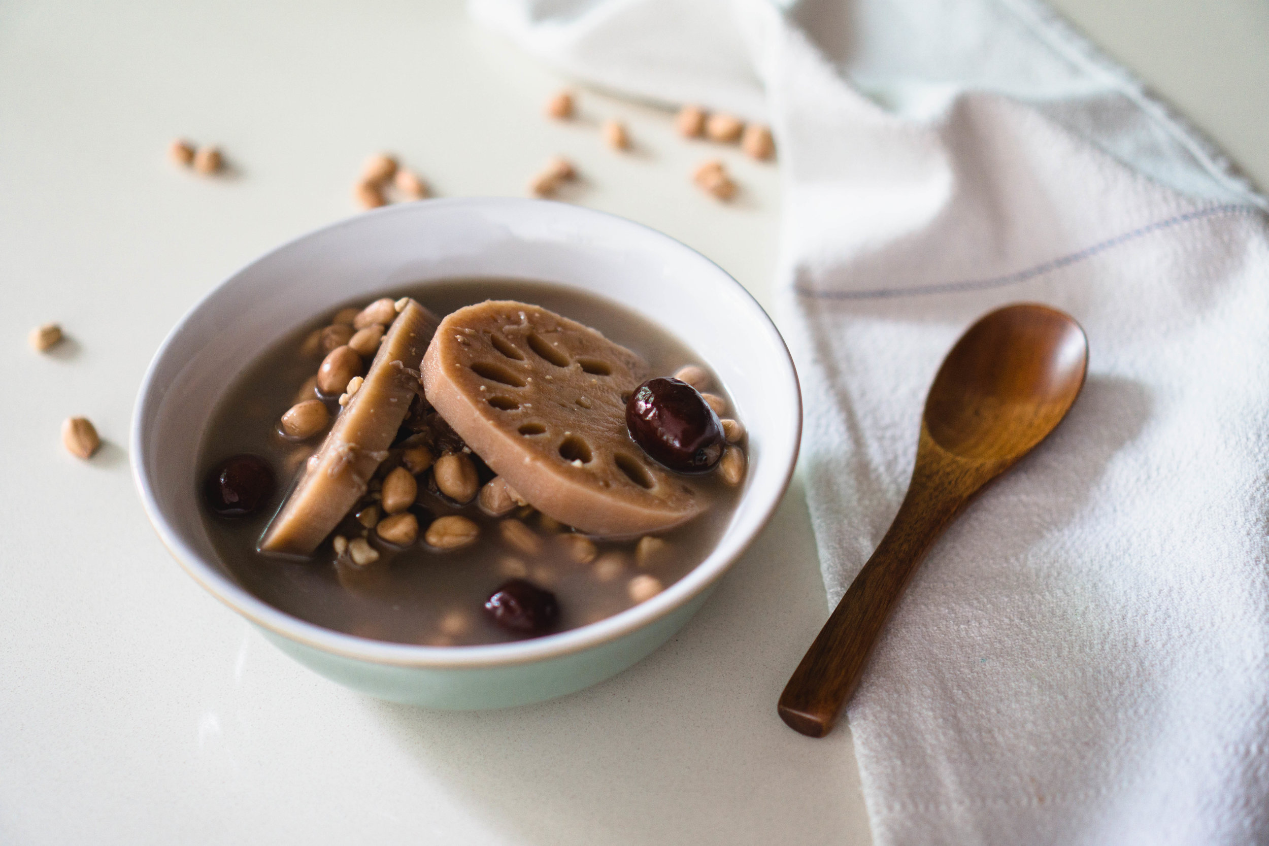 Coconut water lotus root soup