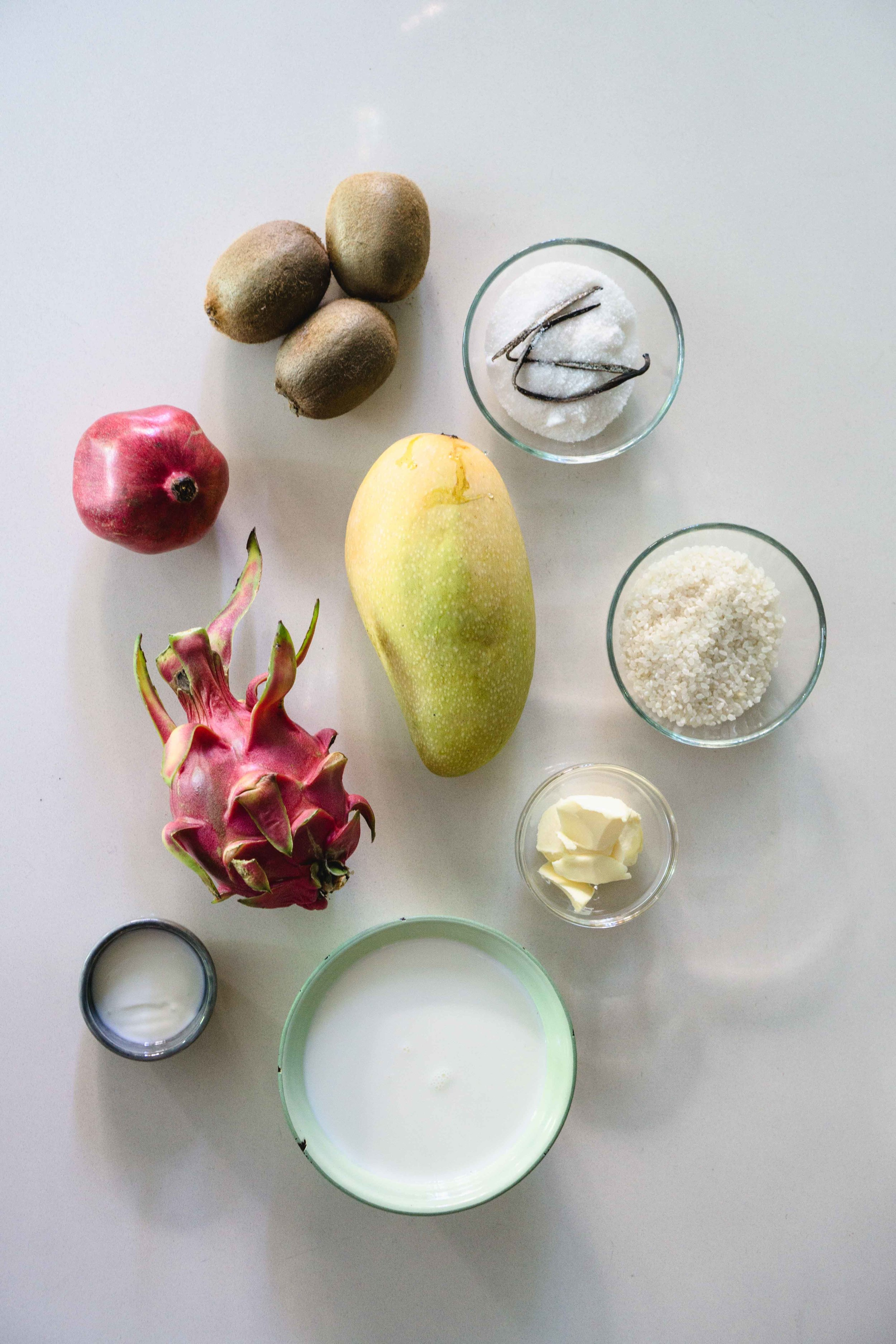 Fruit Bowl Rice Pudding