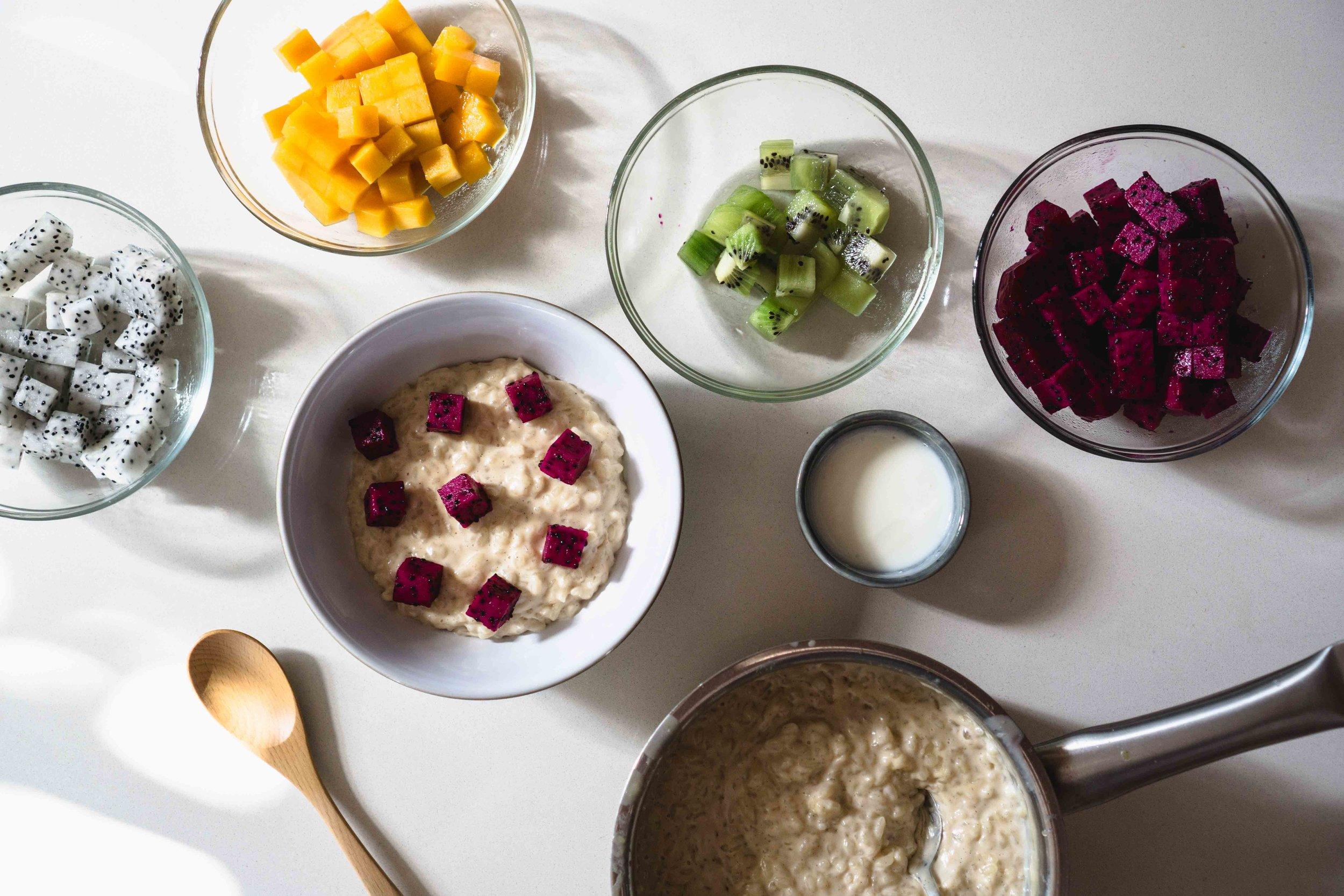 Rice Pudding Fruit Bowl