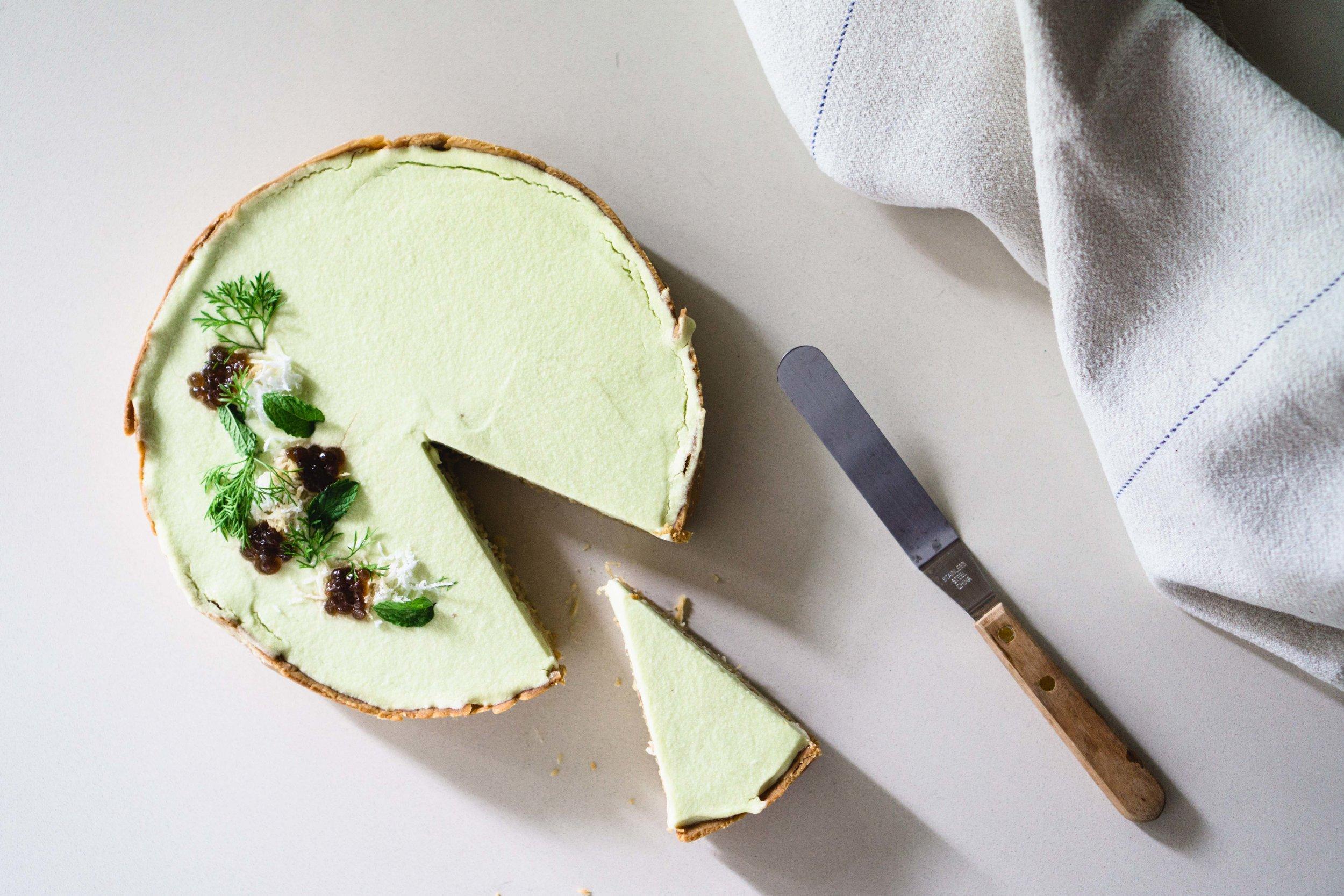 Coconut Pandan Tart