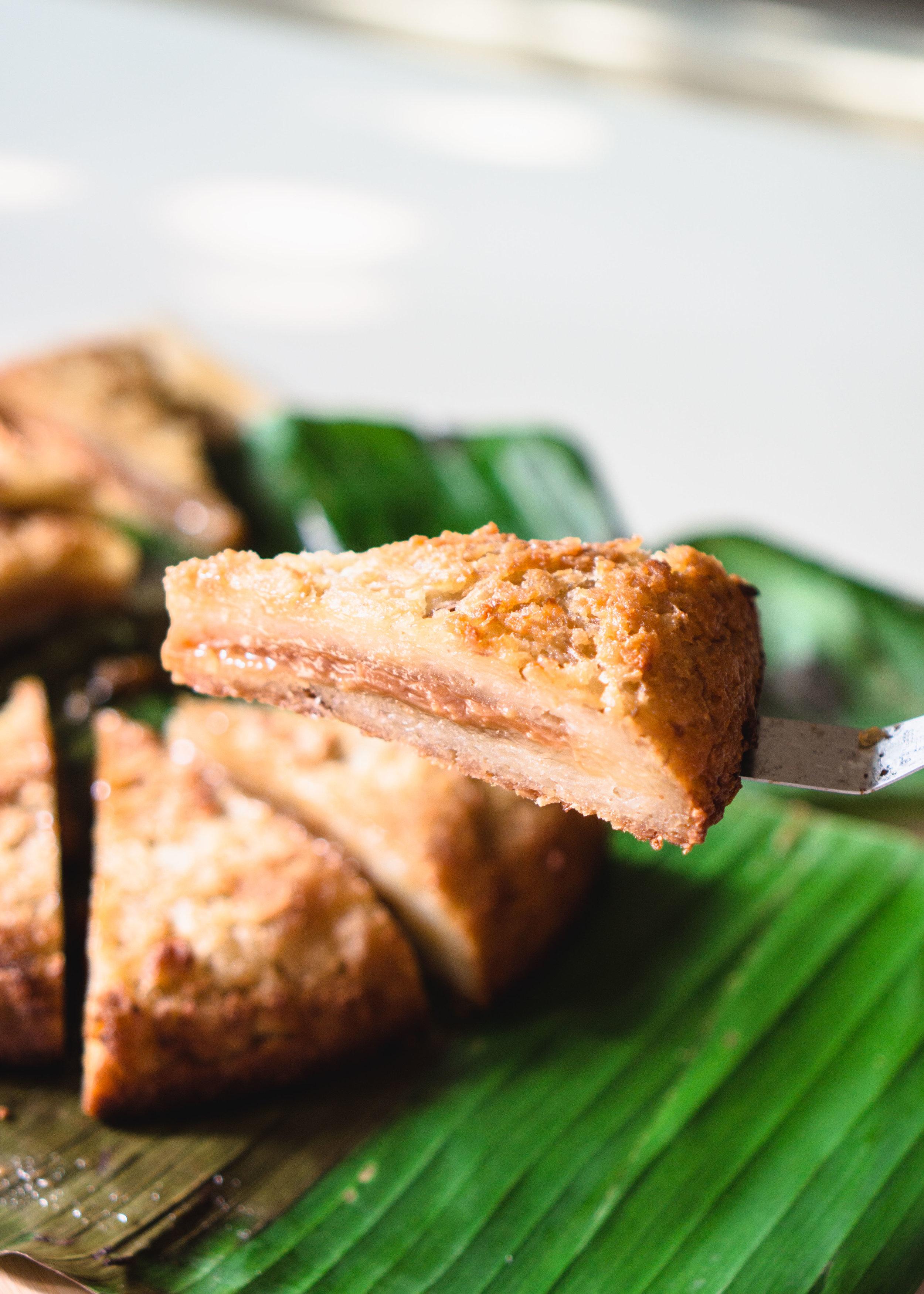 Bingka Ubi (Tapioca Cake) Surprise